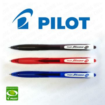 PILOT REXGRIP RETRACTABLE BALLPOINT PEN BPAB-15M MICRO FINE 0.5mm tip 0.3mm Line